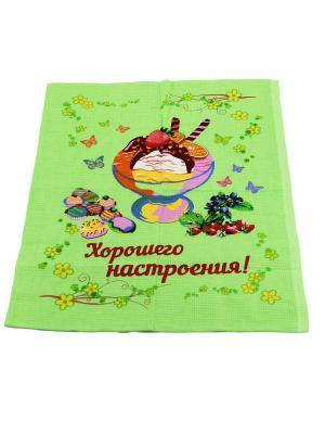 Набор кухонных полотенец Римейн. Цвет: салатовый