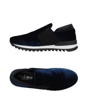 Низкие кеды и кроссовки UNLACE. Цвет: синий