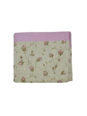 Комплект портьер  Льняные розы 140х270 с манжетом T&I. Цвет: бежевый