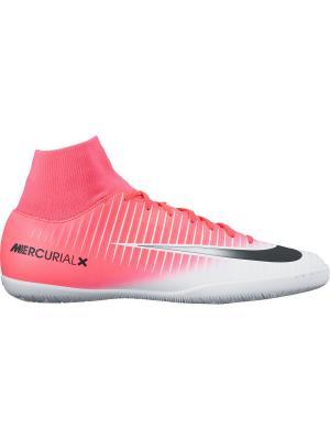 Бутсы MERCURIALX VICTORY VI DF IC Nike. Цвет: розовый, белый