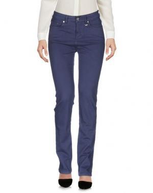 Повседневные брюки DAKS LONDON. Цвет: грифельно-синий