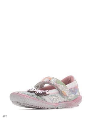 Туфли S.OLIVER. Цвет: молочный, бледно-розовый, розовый