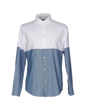 Джинсовая рубашка (+) PEOPLE. Цвет: белый