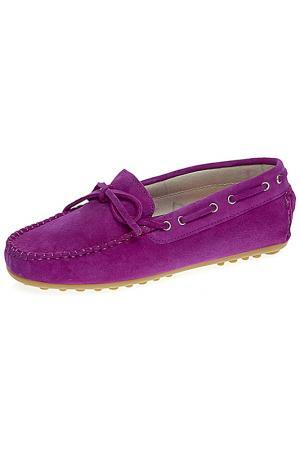 Мокасины TNY. Цвет: фиолетовый