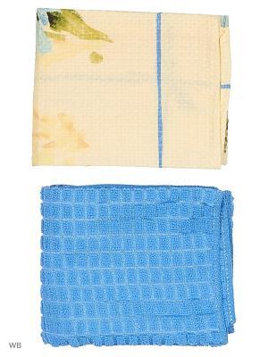 Набор кухонных полотенец - 2шт. (38*64) Dorothy's Нome. Цвет: голубой