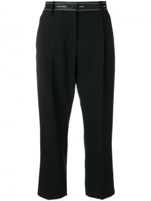 Укороченные брюки с лентой Dolce & Gabbana. Цвет: чёрный