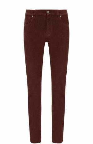Вельветовые брюки прямого кроя Z Zegna. Цвет: бордовый