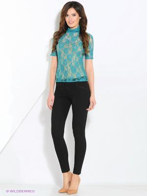 Блузка MARI VERA. Цвет: бирюзовый