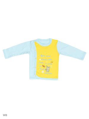 Кофта для новорожденных Bonito kids. Цвет: голубой, желтый