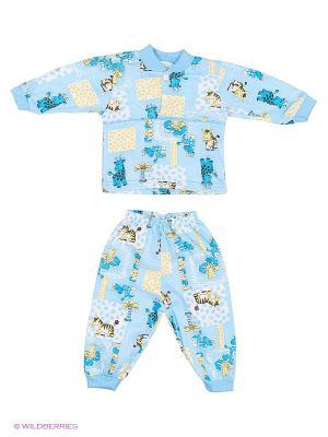 Пижама Babycollection. Цвет: голубой