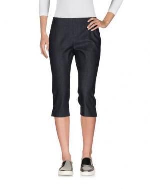 Джинсовые брюки-капри DONNA KARAN. Цвет: синий