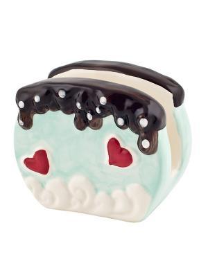 Салфетница Biscuits Elff Ceramics. Цвет: зеленый