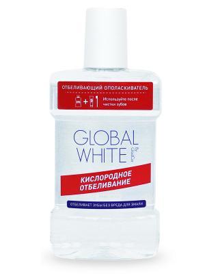 Отбеливающий ополаскиватель, 300 мл Global White. Цвет: прозрачный, белый, красный