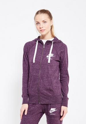 Толстовка Nike. Цвет: фиолетовый