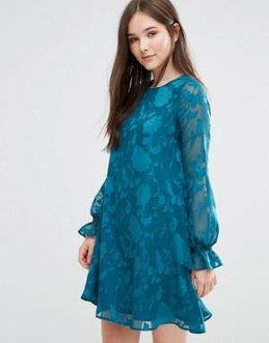 Darling Платье-туника в стиле 70‑х Cerys. Цвет: зеленый
