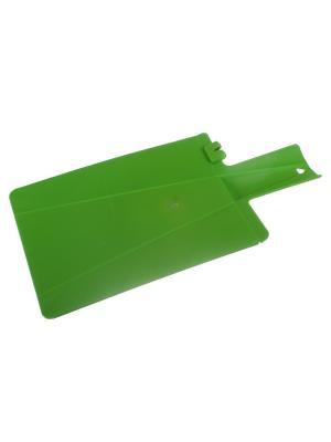 Кухонная доска зеленая с ножеточкой Радужки. Цвет: зеленый
