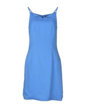Короткое платье GIULIANO FUJIWARA. Цвет: пастельно-синий