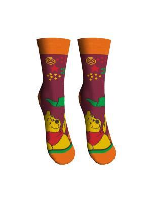 Носки 2 пары Master Socks. Цвет: бордовый