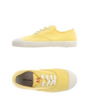 Низкие кеды и кроссовки M.GRIFONI DENIM. Цвет: желтый