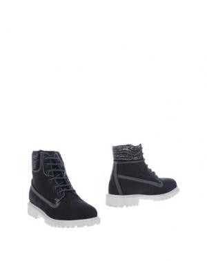 Полусапоги и высокие ботинки KEYS. Цвет: темно-синий