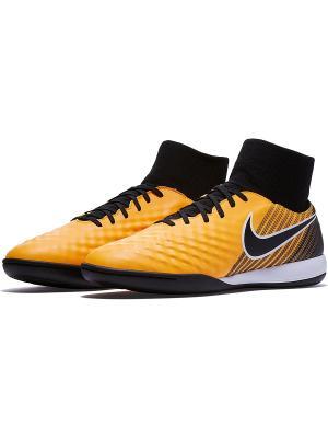 Бутсы MAGISTAX ONDA II DF IC Nike. Цвет: оранжевый, черный