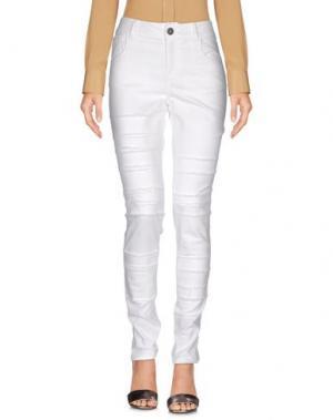 Повседневные брюки KRISTINA TI. Цвет: белый