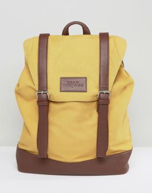 Dead Vintage Рюкзак горчичного цвета с пряжками. Цвет: желтый