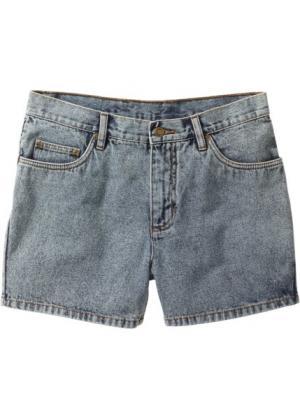 Джинсовые шорты Regular Fit (синий «потертый») bonprix. Цвет: синий «потертый»