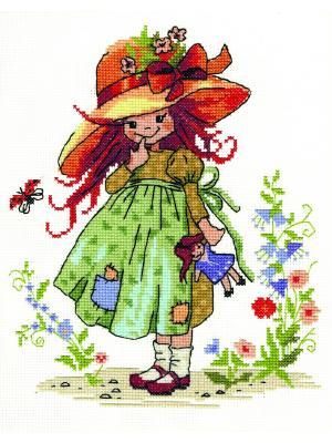 Берта набор для вышивания 25х20 см NITEX. Цвет: рыжий, зеленый, коричневый