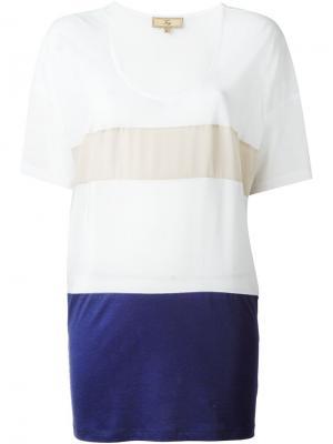 Свободная футболка Fay. Цвет: белый