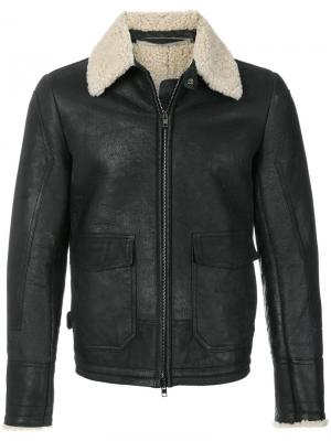 Куртка пилот Salvatore Santoro. Цвет: чёрный