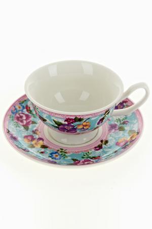 Чайный набор 2пр, 180 мл Nouvelle. Цвет: голубой, розовый, бежевый