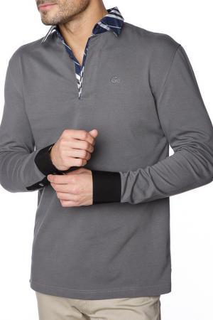 Рубашка-поло GAZOIL. Цвет: серый