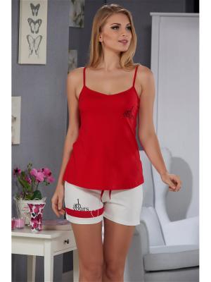 Комплект женский SEVIM. Цвет: красный