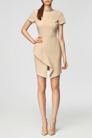 Платье MISEBLA. Цвет: бежевый
