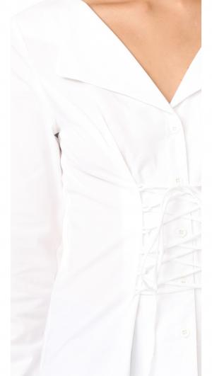 Molly Lace Up Blouse WAYF