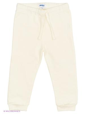 Спортивные брюки Modis. Цвет: молочный, белый