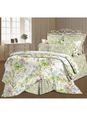 Комплект постельного белья 2,0 перкаль Орнелла Романтика. Цвет: белый