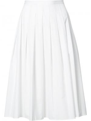 Плиссированная юбка Vince. Цвет: белый