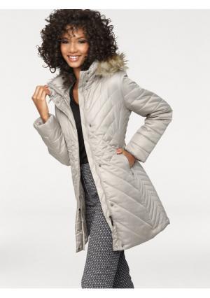 Стеганое пальто Ashley Brooke. Цвет: бежевый