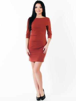 Платье Spicery. Цвет: терракотовый