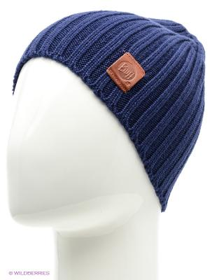 Шапка BUFF KNITTED HATS MINIMAL MEDIEVAL BLUE. Цвет: синий