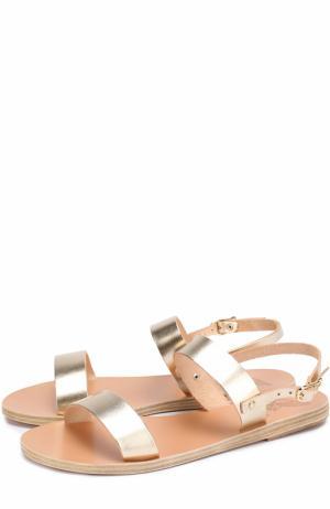 Сандалии Clio из металлизированной кожи Ancient Greek Sandals. Цвет: золотой