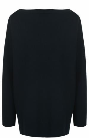 Пуловер свободного кроя с вырезом-лодочка Alaia. Цвет: темно-зеленый