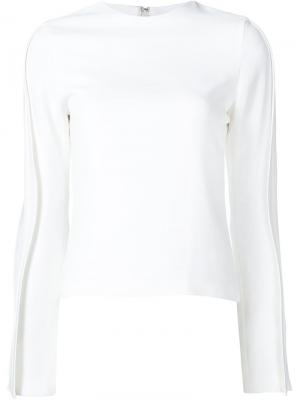 Блузка Wave Brandon Maxwell. Цвет: белый