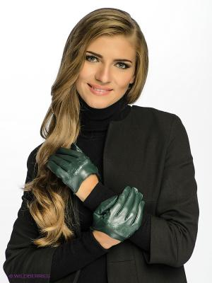 Перчатки Michel Katana. Цвет: темно-зеленый