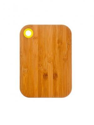 Доска разделочная, 28х20х1см, бамбук, силикон Vetta. Цвет: бежевый