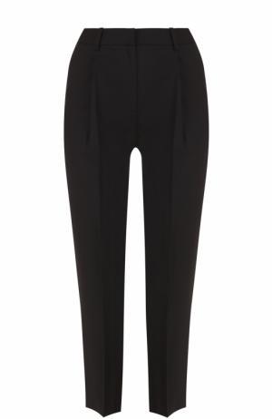 Укороченные брюки прямого кроя с защипами Diane Von Furstenberg. Цвет: черный