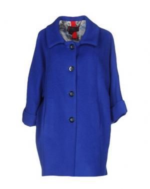 Пальто FEMME by MICHELE ROSSI. Цвет: синий