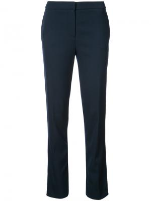 Строгие брюки Oscar de la Renta. Цвет: синий